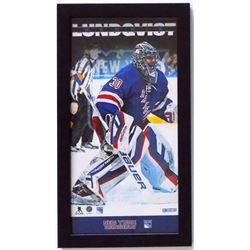 Henrik Lundqvist New York Rangers 10x20 Custom Framed Photo Display