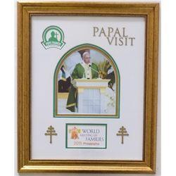 Pope Francis 19x24 Custom Framed Photo Display