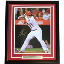 Mike Trout Signed Los Angeles 22x27 Custom Framed Photo Display (MLB Hologram)