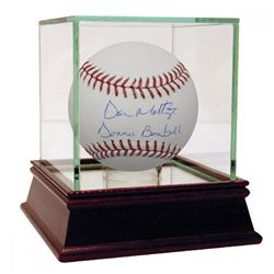 """Don Mattingly Signed Baseball Inscribed """"Donnie Baseball"""" with High Quality Display Case (Steiner CO"""