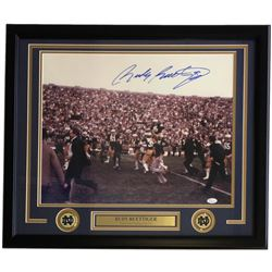 Rudy Ruettiger Signed Notre Dame Fighting Irish 22x27 Custom Framed Photo Display (JSA COA)