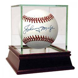 Johnny Mize Signed OAL Baseball (PSA COA)