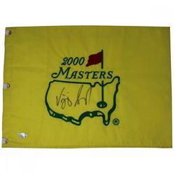 Vjay Singh Signed 2000 Augusta National Masters Pin Flag (Fanatics)