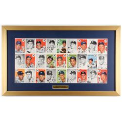 First Issue Sports Illustrated 17.5x29.5 Custom Framed 1954 Topps Baseball Card Pull-out Display
