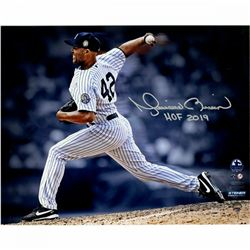 "Mariano Rivera Signed New York Yankees ""Pitching"" 8x10 Photo Inscribed ""HOF 2019"" (Steiner COA)"