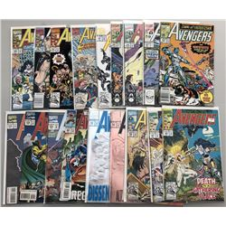 Lot of (38) 1990-1996 Marvel Avengers Comic Books