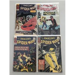 Lot of (4) 1965 Marvel Amazing Spider-Man Comic Books