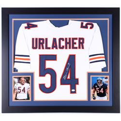 Brian Urlacher Signed Chicago Bears 31x35 Custom Framed Jersey (JSA COA)