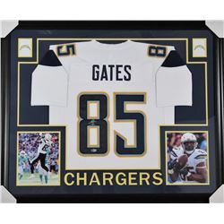 Antonio Gates Signed Los Angeles Chargers 35x43 Custom Framed Jersey (Beckett COA)