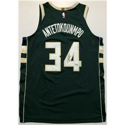 Giannis Antetokounmpo Signed Milwaukee Bucks Authentic Nike Jersey (Fanatics Hologram)
