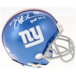 "Michael Strahan Signed New York Giants Mini Helmet Inscribed ""HOF 2014"" (JSA COA)"