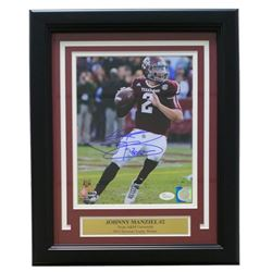 "Johnny Manziel Signed Texas AM Aggies 11x14 Custom Framed Photo Display Inscribed ""'12 Heis"" (JSA CO"