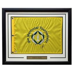 Jordan Spieth Signed Memorial Tournament 21x27 Custom Framed Pin Flag Display (Beckett COA)