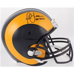 "Marshall Faulk Signed St. Louis Rams Full-Size Helmet Inscribed ""HOF 20XI"" (Beckett COA)"