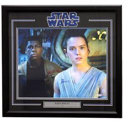 "Daisy Ridley Signed ""Star Wars: The Force Awakens"" 22x27 Custom Framed Photo Display (PSA COA)"