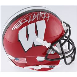 775a391e95d J.J. Watt Signed Wisconsin Badgers Mini-Helmet (JSA COA Watt Hologram)