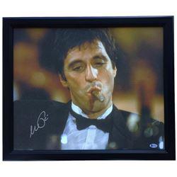 "Al Pacino Signed ""Scarface"" 20x25 Custom Framed Canvas Display (Beckett COA)"