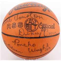 1979-1980 Louisville Cardinals NCAA Champions Rawlings Logo Basketball Signed by (14) with Denny Cru