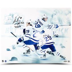 """William Nylander Signed Toronto Maple Leafs """"First Hat Trick"""" 16x20 Photo Inscribed """"1st Hat Trick 2"""