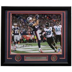 Danny Amendola Signed New England Patriots 22x27 Custom Framed Photo Display (PSA COA)