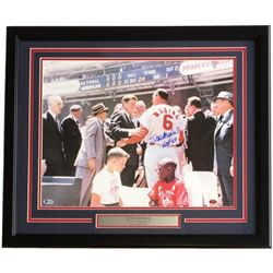 "Stan Musial Signed St. Louis Cardinals 22x27 Custom Framed Photo Display Inscribed ""HOF 69"" (Beckett"