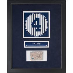 Lou Gehrig 14x18 New York Yankees Stadium Monument Park Brick Display (Steiner COA)