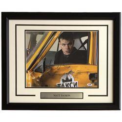 """Matt Damon Signed """"The Bourne Supremacy"""" 16x20 Custom Framed Photo Display (PSA COA)"""