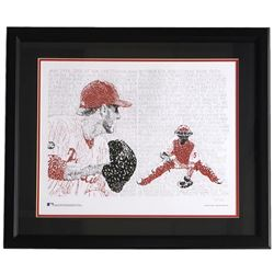 """Roy Halladay"" Philadelphia Phillies Word Art 22x27 Custom Framed Print Display"