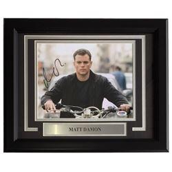 """Matt Damon Signed """"The Bourne Supremacy"""" 11x14 Custom Framed Photo Display (PSA COA)"""