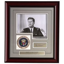John F. Kennedy 17x19 Custom Framed Photo Display with Laser Engraved Autograph