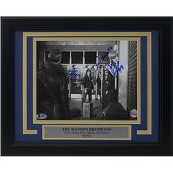 David Hanson, Steve Carlson  Jeff Carlson Signed Hanson Brothers 11x14 Custom Framed Photo Display (