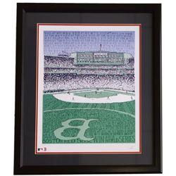 Boston Red Sox Fenway Park Stadium Word Art 22x27 Custom Framed Print Display