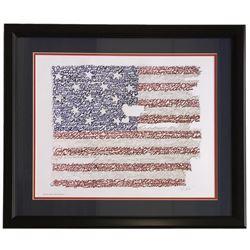 United States of America Word Art 22x27 Custom Framed Photo Display