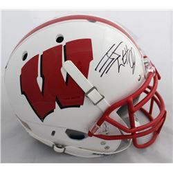 J.J. Watt Signed Wisconsin Badgers Authentic On-Field Full-Size Helmet (JSA COA  Watt Hologram)