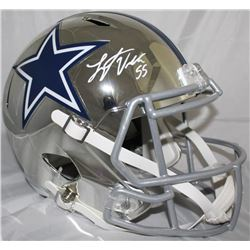 Leighton Vander Esch Signed Dallas Cowboys Chrome Full-Size Speed Helmet (JSA COA)