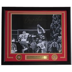 Dwight Clark Signed San Francisco 49ers 22x27 Custom Framed Photo Display (TriStar Hologram)