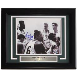 Bill Russell Signed Boston Celtics 11x14 Custom Framed Photo Display (Beckett COA  Hollywood Collect
