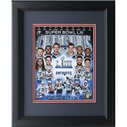 Super Bowl 53 New England Patriots 14x17 Custom Framed Photo Display