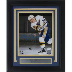 Brett Hull Signed St. Louis Blues 11x14 Custom Framed Photo Display (JSA COA)