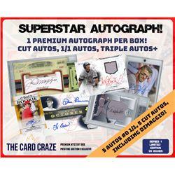 The Card Craze SUPERSTAR BASEBALL AUTOGRAPH Mystery Box (1 Hit Per Box)