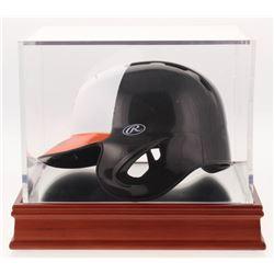 Frank Robinson  Cal Ripken Jr. Signed Baltimore Orioles Mini-Batting Helmet with Display Case (PSA C