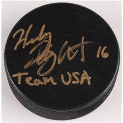 """Hilary Knight Signed Hockey Puck Inscribed """"Team USA"""" (JSA COA)"""