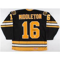 "Rick Middleton Signed Boston Bruins Alternate Captain's Jersey Inscribed ""Nifty"" (JSA COA)"