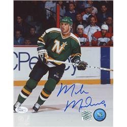 Mike Modano Signed Minnesota North Stars 8x10 Photo (JSA COA  Modano Hologram)