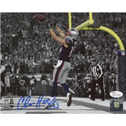 "Chris Hogan Signed New England Patriots ""Touchdown"" 8x10 Photo (JSA COA)"
