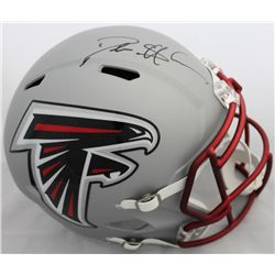 Deion Sanders Signed Falcons Full-Size Blaze Speed Helmet (JSA COA)