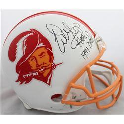 "Warren Sapp Signed Tampa Bay Buccaneers Throwback Full-Size Authentic On-Field Helmet Inscribed ""HOF"