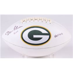 """Dave Robinson Signed Green Bay Packers Logo Football Inscribed """"HOF 2013"""" (Jersey Source COA)"""