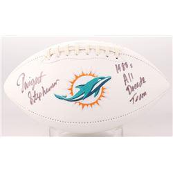 "Dwight Stephenson Signed Miami Dolphins Logo Football Inscribed ""1980's All-Decade Team"" (SGC COA)"