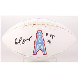 "Earl Campbell Signed Houston Oilers Logo Football Inscribed ""HOF 91"" (JSA COA)"